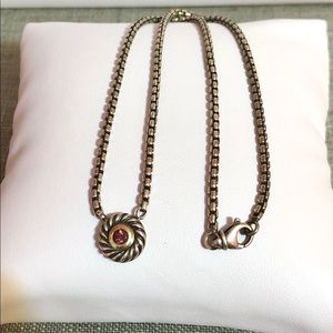 David Yurman Pink tourmaline 14k/925 necklace